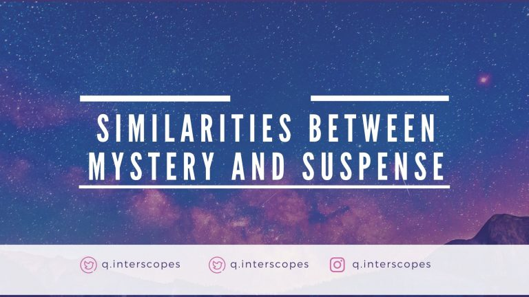 similarities between mystery and suspense